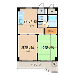 第16洛西ハイツ瀬田[3階]の間取り