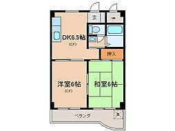 第16洛西ハイツ瀬田[4階]の間取り