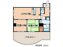 エクセルメゾン瀬田[3階]の間取り