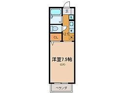ジョリプレール[2階]の間取り