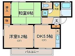 FLEUR瀬田[2階]の間取り