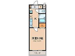 メゾンドムラジII[1階]の間取り