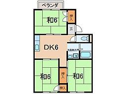 シャルムKSK I・II[2階]の間取り
