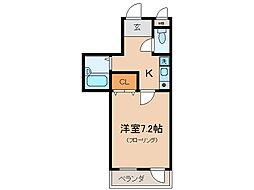 グランドヒル瀬田[7階]の間取り