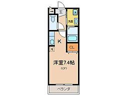 アビターレ草津[1階]の間取り