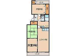 ロイヤルコーポSAKAGUCHI[1階]の間取り