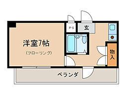 ラフィーネ瀬田[5階]の間取り