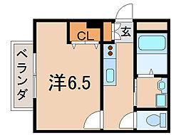 ソレイユ瀬田[1階]の間取り