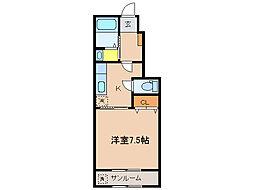 ベルアルモニーST[1階]の間取り