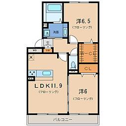 Blezio11[2階]の間取り