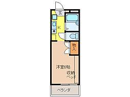 ピエ・タ・テール杉山[103号室]の間取り