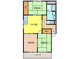 栄東ハイツ[2階]の間取り