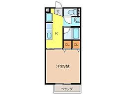 Surplus 杜の館[2階]の間取り