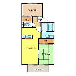 コートビレッジII[2階]の間取り