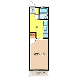 ナショナルハイツ良原[1階]の間取り