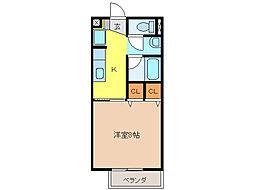 サンノーブルB棟[2階]の間取り