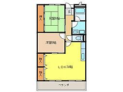 リンピアINOUE[2階]の間取り