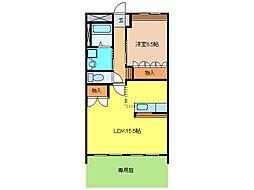 ルチェーレ[1階]の間取り