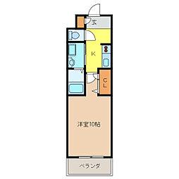 ボヌール飛高[1階]の間取り