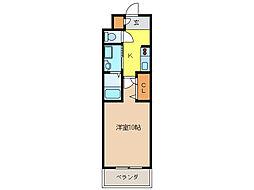 ボヌール飛高[3階]の間取り