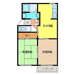 アベニュー11[1階]の間取り