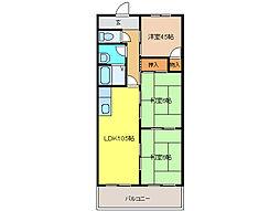 メゾン北郷 B棟[3階]の間取り