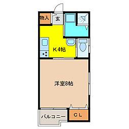 レピアK[2階]の間取り