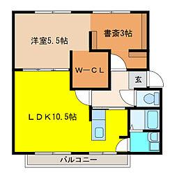 サンシティ福寿[2階]の間取り