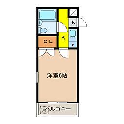 ATS千代田橋ハイツ[403号室]の間取り