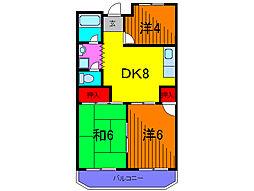 東京都葛飾区亀有3丁目の賃貸マンションの間取り