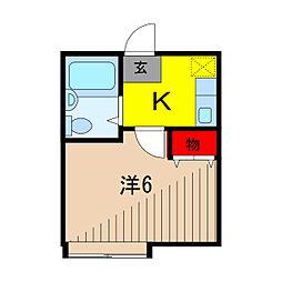 東京都足立区中川3丁目の賃貸アパートの間取り