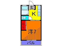 東京都葛飾区亀有1丁目の賃貸アパートの間取り