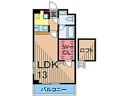 東京都足立区東綾瀬1丁目の賃貸マンションの間取り