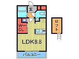 東京都足立区足立4丁目の賃貸マンションの間取り