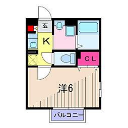 東京都葛飾区青戸5丁目の賃貸アパートの間取り