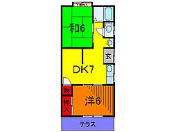 東京都葛飾区新宿4丁目の賃貸アパートの間取り