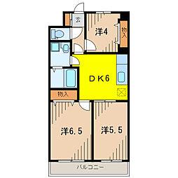 東京都葛飾区青戸8丁目の賃貸マンションの間取り