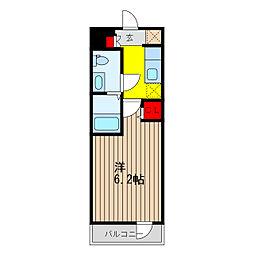 SHOKEN Residence亀有 11階ワンルームの間取り