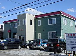 北海道北斗市飯生3丁目の賃貸アパートの外観