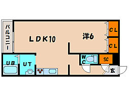 北海道函館市富岡町2丁目の賃貸マンションの間取り