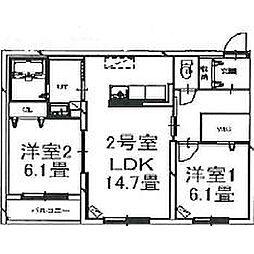 北海道函館市中島町の賃貸マンションの間取り