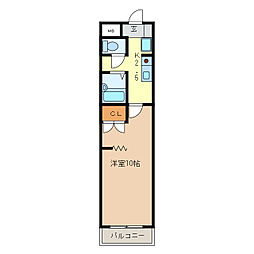 KURIMAマンション[5階]の間取り
