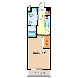 エイムオーエス島崎町マンション[502号室]の間取り