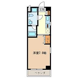 エイムオーエス島崎町マンション[612号室]の間取り