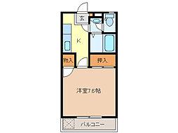 江戸橋パレス[4階]の間取り