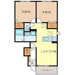 サニー・カーサII[1階]の間取り