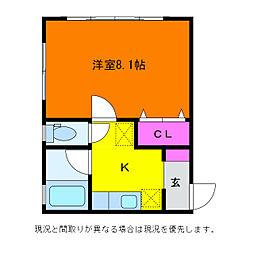 ララビ−小針[1階]の間取り