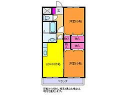 コーポ花[3階]の間取り