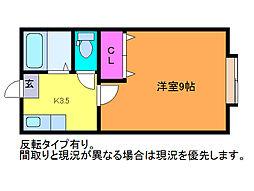 ハイツ江北[2階]の間取り