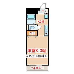 JR指宿枕崎線 坂之上駅 徒歩8分の賃貸マンション 1階1Kの間取り
